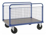 Chariot à 2 ridelles grillagées - Dim : 1000x700x900 ou 1200x800x900 mm - Capacité : 500 Kg