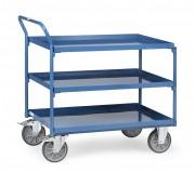 Chariot à 3 plateaux étanches - Charge (kg) : 400 - Norme 1757-3
