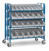 Chariot à bacs plastique - Charge (kg) : 300 - Norme EN 1757-3