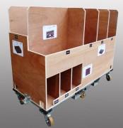 Chariot à casier en inox - En profilé aluminium - Mécano soudé