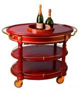 Chariot à champagne capacité 15 bouteilles - Dimensions extérieures (L x l x h) : 113 x 71 x 83 cm