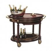 Chariot à champagne en hêtre massif - Dimensions (L x l x H) cm : 113 x 71 x 100