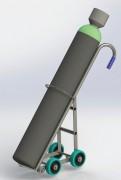Chariot à cylindre - Capacité de charge : 150 kg