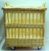 Chariot à défourner en osier - Hauteurs disponibles (cm) : 72 -76