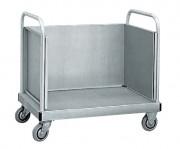 Chariot à dossier en aluminium - Charge admissible (kg) : 300