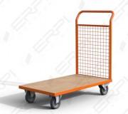 Chariot à dossier grillagé - Capacité de charge :500 Kg - Revêtement thermolaqué