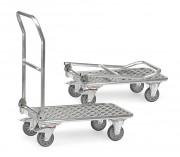 Chariot à dossier pliable en aluminium
