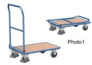 Chariot à dossier repliable - Capacité de charge : 150 ou 250 kg