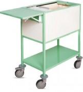 Chariot à dossiers médicaux en acier - Dimensions : H 100 x L 85 x l 48 cm
