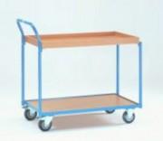 Chariot à étagère avec rebords 250 kg - Charge (kg) : 250 ; 400 ; 500