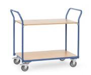 Chariot à étagère sans rebords - Charge (kg) : de 200 à 500