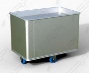 Chariot à linge fond mobile - En tôle d'aluminium