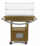 Chariot à fromage réfrigéré - Dimensions (L x l x H) cm : 108 x 53 x 116