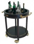 Chariot à liqueur bar - Hauteur : 850 mm - 2 étages de présentation