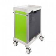 Chariot à médicaments - Dimensions (L x l x H) mm : 725 x 628 x 1080