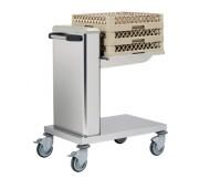 Chariot à niveau constant pour casiers - Dimensions (L x l x H) mm 805 x 545 x 974