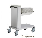 Chariot à niveau constant pour plateaux - Dimensions (L x l x H) mm: 805 x 545 x 974