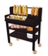 Chariot à pain restaurant - Dimensions (L x l x H)cm : 100 x 50 x 130