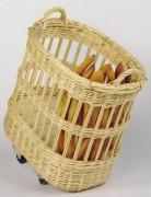 Chariot à pains ovale sur roulettes - Protection métal pour défourner