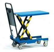 Chariot à plate-forme élévatrice simple ciseau - Charge (kg) : 150