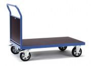 Chariot à plateau antidérapant - Charge (kg) : 1200 - Norme EN 1757-3