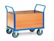 Chariot à ridelle en mélaminé - Charge (kg) : 500 à 600