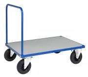 Chariot à roues fixes et pivotantes - Dimensions (L x P x H) mm : 1410 x 400 x 1850