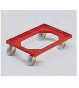 Chariot à roues nylon et chape inox 600 x 400 - 99606