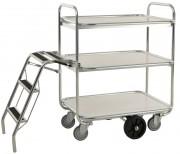 Chariot à tablettes pour préparation de commandes - Capacité : 300 Kg