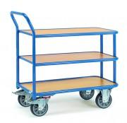Chariot à trois plateaux en mélaminé - Charge (kg)  : 400 / Norme EN 1757-3