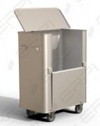 Chariot aluminium à déchets - Charge utile : 450 et 550 kg