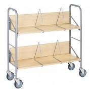 Chariot archives - 2 étagères - Capacité : 50 Kg - Inclinable