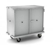 Chariot armoire aluminium - Dimensions extérieures (L x l x h) : 1230 x 630 x 1200/1750 mm