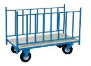 Chariot avec 2 ridelles latérales - Pour charges longues