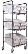 Chariot Bac Postal - Adapté aux besoins : 6, 9 ou 12 bacs postaux