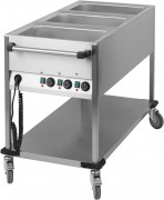 Chariot bain-marie 3 x GN 1/1 verticale