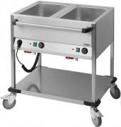 Chariot bain-marie en acier - Construction en acier inoxydable 18/10