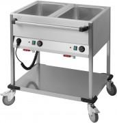 Chariot bain marie horizontal - Puissance : 1 400 W / 230 V