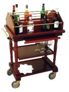 Chariot Bar-Service pour hôtels - Dimensions (L x I x h) : 825 x 525 x 1070 mm