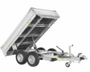 Chariot benne à 2 essieux freinés  - Chariot benne à 2 essieux freinés  PTAC 3000 Kg