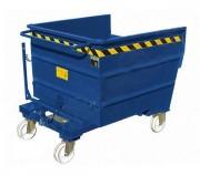 Chariot benne basculante sur roues - Capacité : 2040 L - Charge utile : 2000 Kg -  Sur roues