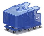 Chariot benne grillagé - Charges admissibles : 300 kg
