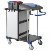 Chariot bio nettoyage hospitalier compact - Dimensions (L x l x h) : 83 x 55 x 111 cm