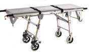 Chariot brancard mortuaire - Aluminium - Testé à 250 kg de charge -