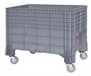 Chariot caisse plastique 285 litres - Volume 285 L - Dimensions : 640 x 1040 et 800 x 1200 mm