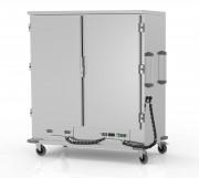 Chariot chaud 2 portes - Fabrication européenne - Structure en inox - Modèle : 2 portes battantes