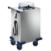 Chariot chauffant en inox distributeur 120 assiettes - Capacité : Environ 60 - 120 assiettes