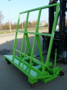 Chariot chevalet à fond ouvrant - Prise fourches chariot élévateur   -  Charge admissible 2000 kg