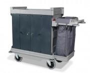 Chariot compact pour hôtel - Fermeture: Portes rigides repliables