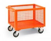 Chariot conteneur à parois grillagées - Charge utile : 800 Kg - 5 teintes standards